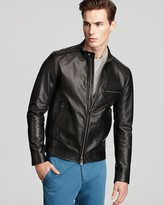 Theory Brome Karel Leather Jacket