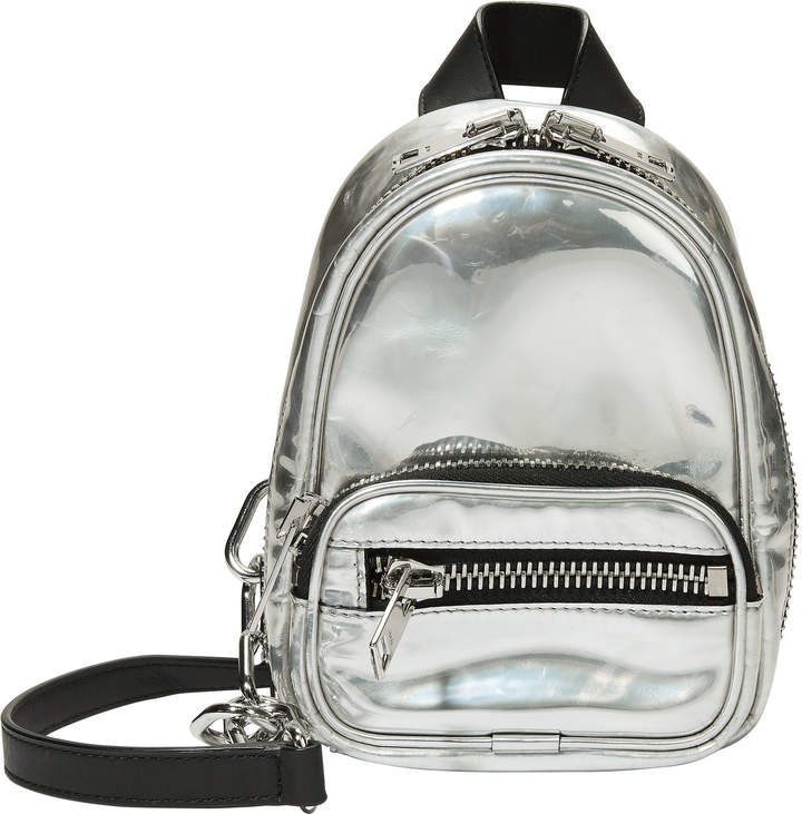 Alexander Wang Attica Silver Backpack Bag