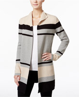 Charter Club Petite Striped Open-Front Cardigan, Only at Macy's