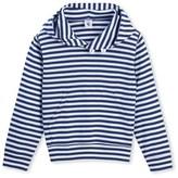 Petit Bateau Boys striped hooded sweatshirt