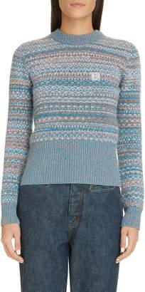 Loewe Anagram Logo Wool Jacquard Sweater