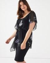 Scarlett & Jo Chiffon Asymmetric Midi Dress