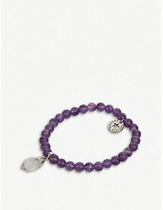 PSYCHIC SISTERS Herkimer diamond and amethyst bracelet