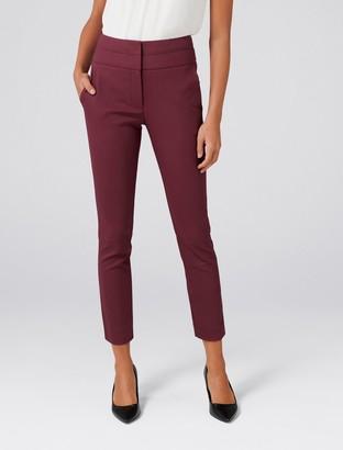 Forever New Georgia Petite High-Waist Pants - Panama Rose - 16