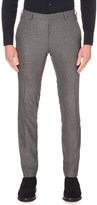 HUGO BOSS Slim-fit tapered stretch-cotton trousers