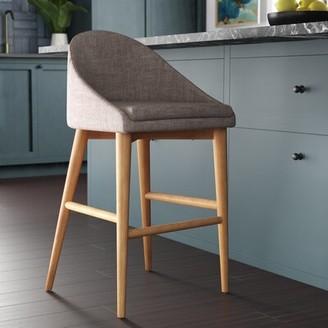 "Mercury Row Mcgahey Bar & Counter Stool Mercury Row Seat Height: Counter Stool (26"" Seat Height), Upholstery: Dark Gray"