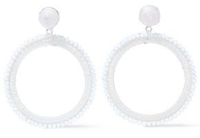 Kenneth Jay Lane Silver-tone, Bead And Cord Earrings