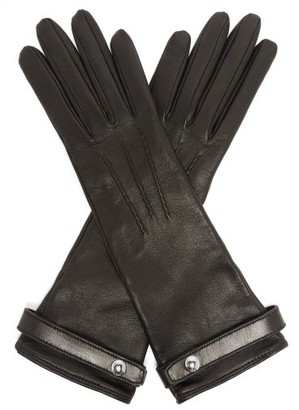 Burberry Leather Gloves - Womens - Black