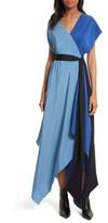 Diane von Furstenberg Women's Handkerchief Hem Silk Scarf Dress