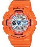 Casio Baby-G Orange Dial Orange Resin Multi Quartz Ladies Watch BA110SN-4A