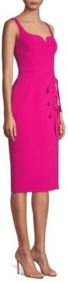 Rebecca Vallance Delilah Lace-Up Pencil Dress