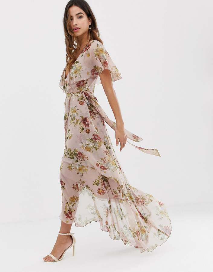 6e3b2c9d2e7 Floral Dip Hem Maxi Dress - ShopStyle UK