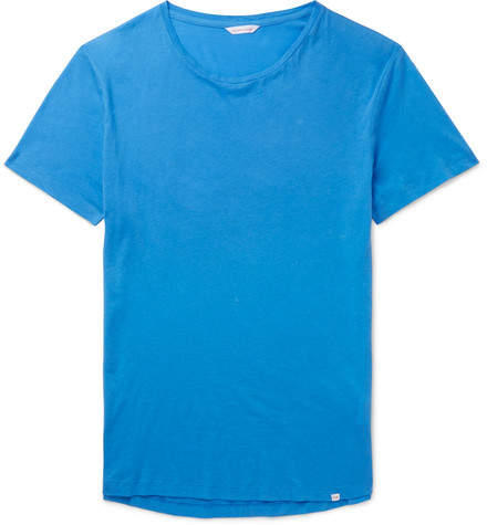 Orlebar Brown Ob-t Slim-fit Cotton-jersey T-shirt - Blue