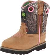 John Deere Baby Girl Camo Top Leather Top Leather Boots 4