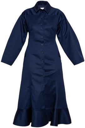 Talented Wide Sleeve Dress Navy Blue