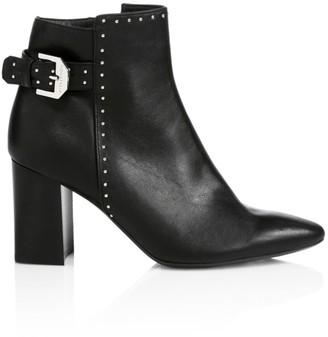 Aquatalia Peri Studded Leather Ankle Boots