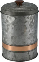 THIRSTYSTONE COLLECTION Thirstystone Urban Farm Galvanized Iron With Copper Tone Band Canister
