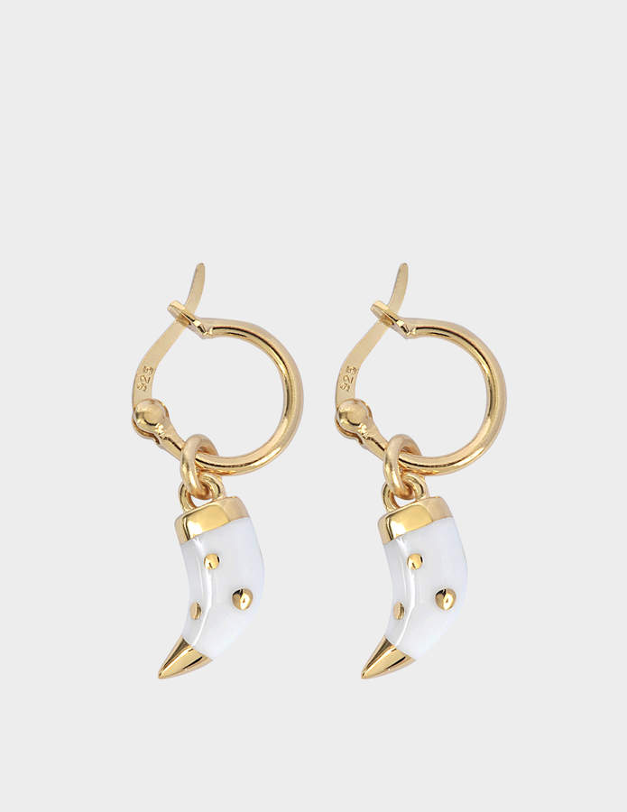 Aurelie Bidermann Caftan Moon baby horn earrings