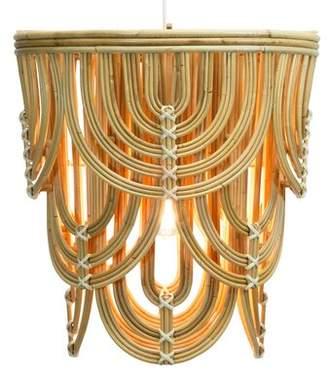 """Selamat Designs Deco 1 - Light Single Drum Pendant Designs Finish: Natural/White, Size: 30.5"""" H x 28"""" W x 28"""" D"""