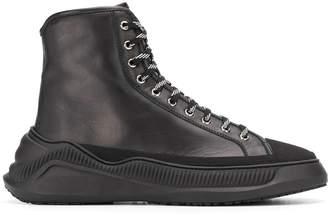 Oamc oversized sole hi-top sneakers