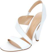 Gianvito Rossi Asymmetric Leather Sandals