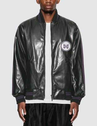 Needles Faux Leather Award Jacket
