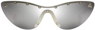 Gucci Cat-Eye Mask Sunglasses