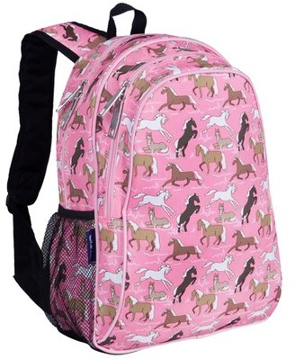 Wildkin Horses in Pink 15 Inch Backpack