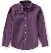 Brooks Brothers Little/Big Boys 4-20 Mini Tattersal Button Front Shirt