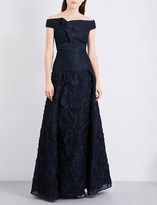Roland Mouret Off-the-shoulder cloque and organza gown