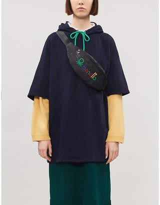 Benetton Oversized cotton-blend hoody