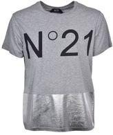 N°21 N21 Metallic Panel Logo T-shirt