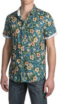Jachs NY Floral Printed Shirt - Short Sleeve (For Men)