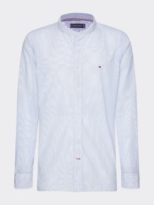 Tommy Hilfiger Mandarin Collar Stripe Shirt