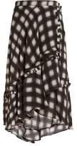 Preen Line Dixie checked woven midi skirt