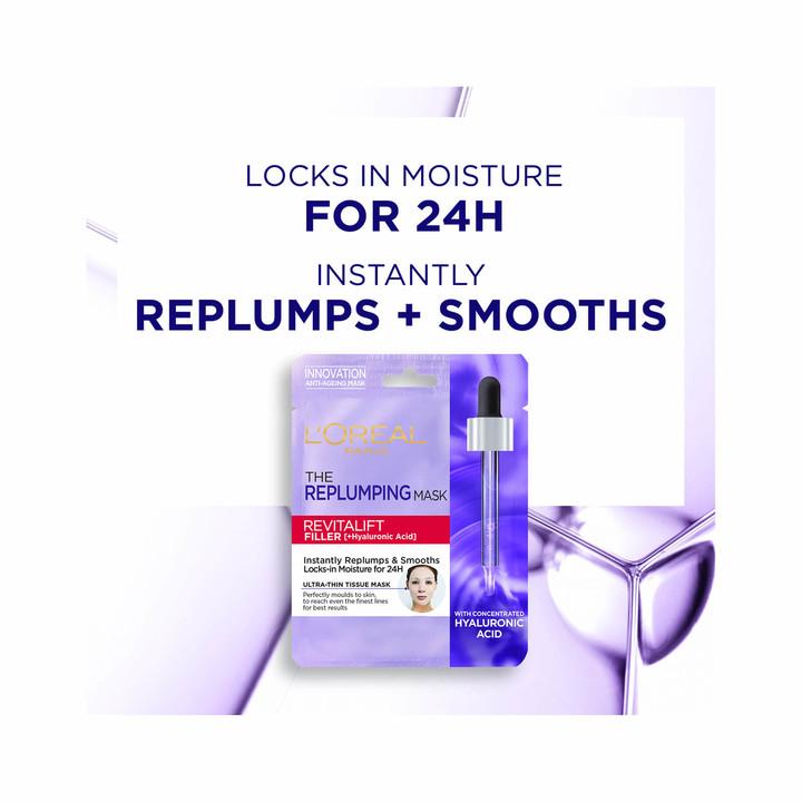 Thumbnail for your product : L'Oreal Revitalift Filler Hyaluronic Acid Tissue Mask