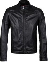 Hugo Lesson Black Leather Jacket