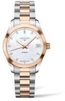 Longines Conquest Classic Diamond, Mother-Of -Pearl, Goldtone & Stainless Steel Watch