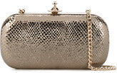 Vivienne Westwood metallic clutch - women - Leather - One Size