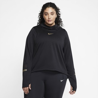 Nike Women's Long-Sleeve Running Top (Plus Size Icon Clash