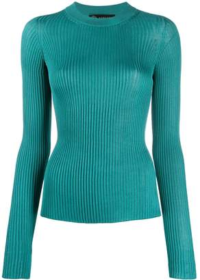 Versace ribbed knit fitted jumper
