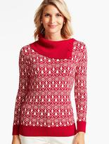 Talbots Holiday Mariner Turtleneck Sweater