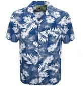 Pretty Green Short Sleeve Floral Shirt Blue