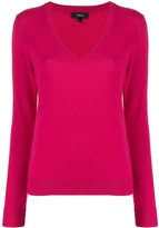 Theory cashmere knitted v-neck jumper