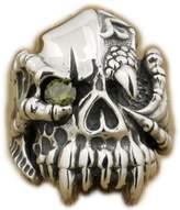 Unknown CZ Eyes 925 Sterling Silver Dragon Claw Skull Mens Biker Ring 9M102G US 8~15