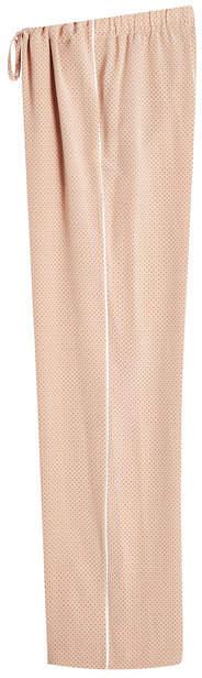 Theory Perforated Silk Drawstring Pants
