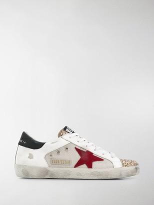 Golden Goose Superstar distressed mesh sneakers