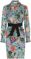 Gucci Blooms Printed Silk Dress