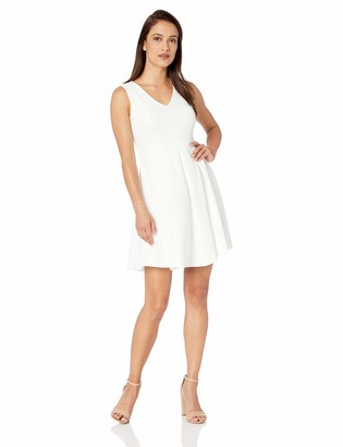 Calvin Klein Women's Sleeveless A Line Dress with Mesh Back