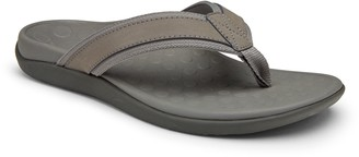 Vionic Men's Leather Flip-Flop - Men's Tide